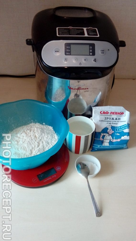 Фото рецепта - Белый хлеб «Французская булка» в хлебопечке - шаг 1