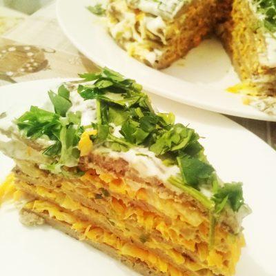 Печёночный торт «Пальчики оближешь» - рецепт с фото