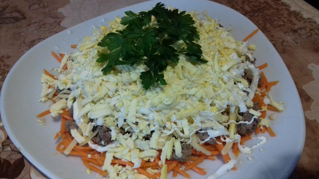 Фото рецепта - Салат из печени по-корейски - шаг 7