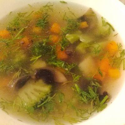 Суп грибной с брокколи - рецепт с фото