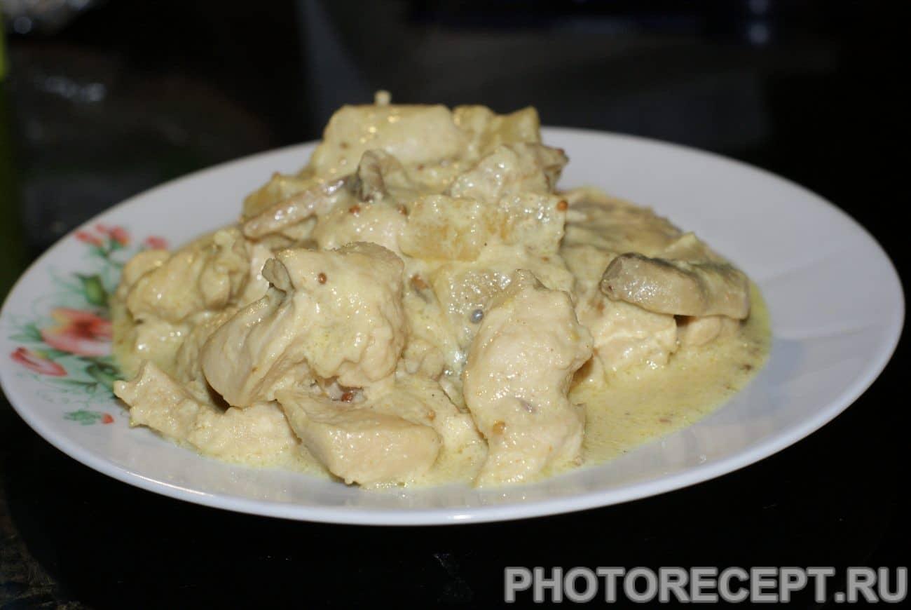 Куриное филе в сливках