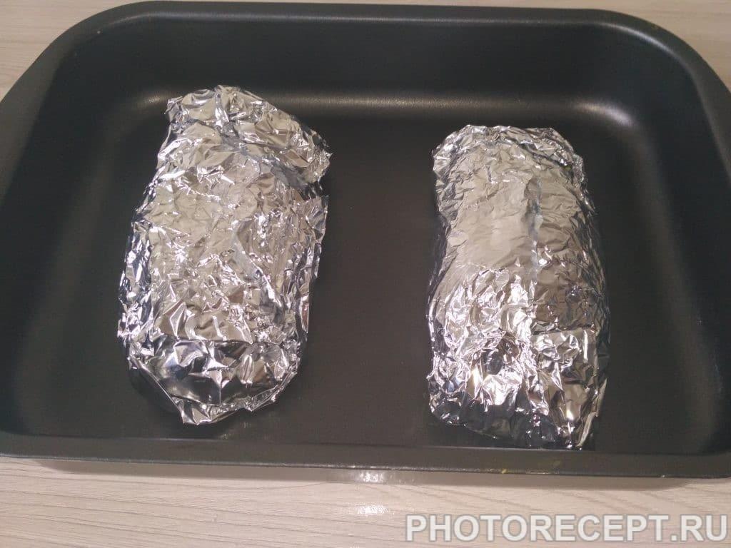 Фото рецепта - Куриная грудка, фаршированная апельсином в духовке - шаг 5
