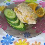Куриная грудка, фаршированная апельсином в духовке