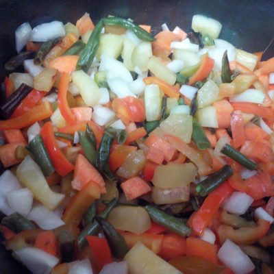 Фото рецепта - Рис с овощами в мультиварке - шаг 1