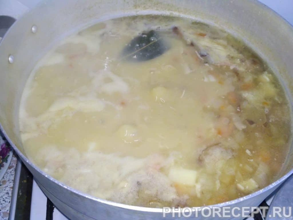 Фото рецепта - Супчик гороховый с копчёностями - шаг 7