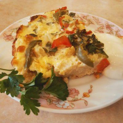 Запеканка-омлет из цветной капусты - рецепт с фото