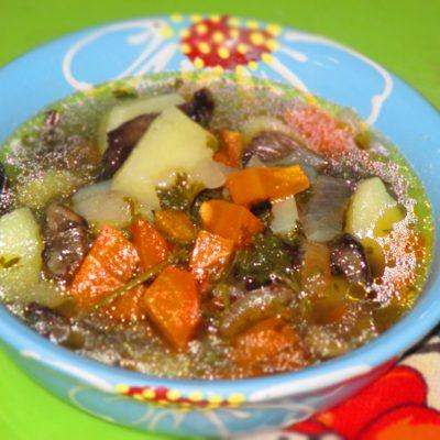 Простой грибной суп - рецепт с фото