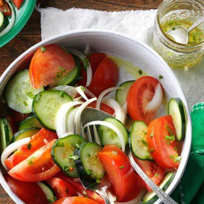 Быстрый салат «К шашлычку» - рецепт с фото