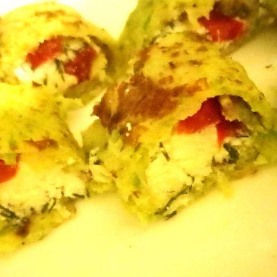 Роллы из кабачков - рецепт с фото