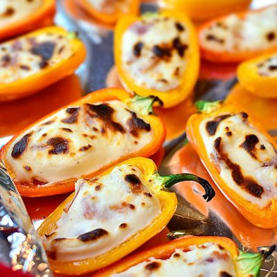 Диетический перец, фаршированный творогом и морковью - рецепт с фото