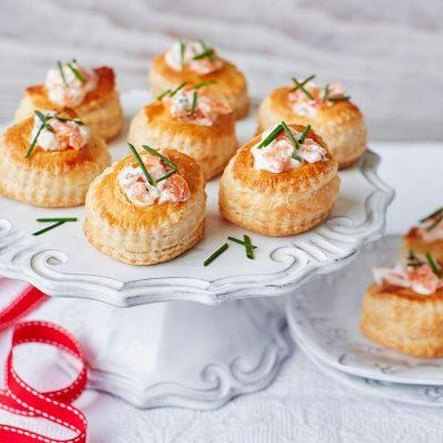 Французские валованы с лососем — закуска к празднику - рецепт с фото
