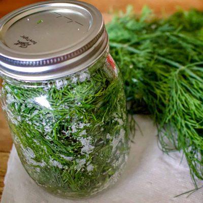 Как сохранить зелень ароматной или засолка укропа на зиму - рецепт с фото
