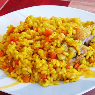 Плов с курицей «Янтарь и жемчуг», в казане - рецепт с фото