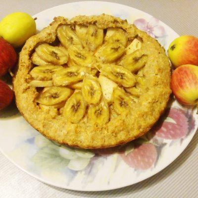 Овсяная коврижка с яблоками и бананом - рецепт с фото
