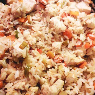 Рис с овощами и курицей - рецепт с фото