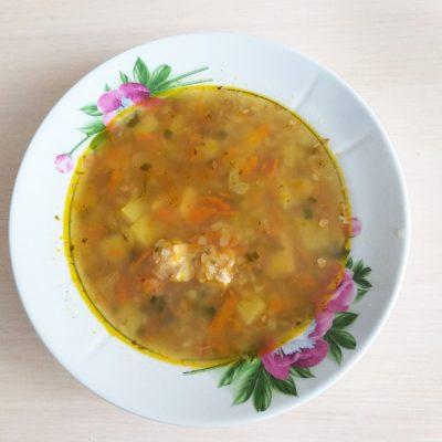 Гречневый суп с поджаркой - рецепт с фото