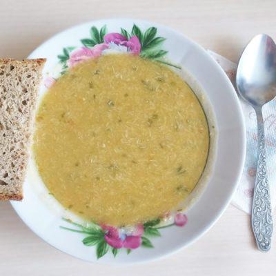 Чечевичный суп-пюре с курицей - рецепт с фото