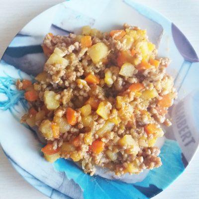 Овощное рагу с баклажанами и свиным фаршем - рецепт с фото