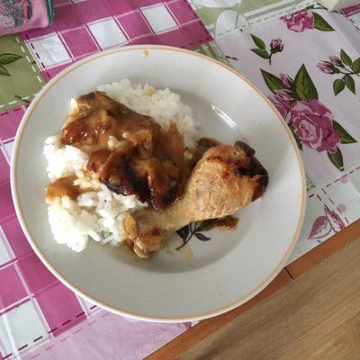 Фото рецепта - Рис с тушеной курицей в подливе - шаг 7