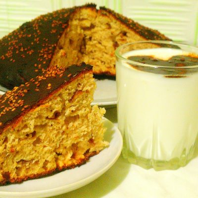 Пирог «Чертёнок» с яблочным вареньем - рецепт с фото