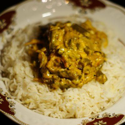 Ароматный Бирияни из риса с грибами и фасолью - рецепт с фото