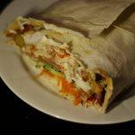 Фото рецепта - Домашняя шаурма с овощами и курицей - шаг 11