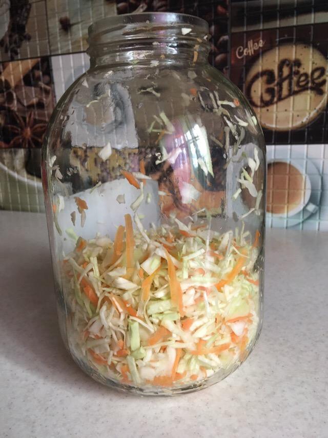 Фото рецепта - Маринованная капуста с аспирином - шаг 4