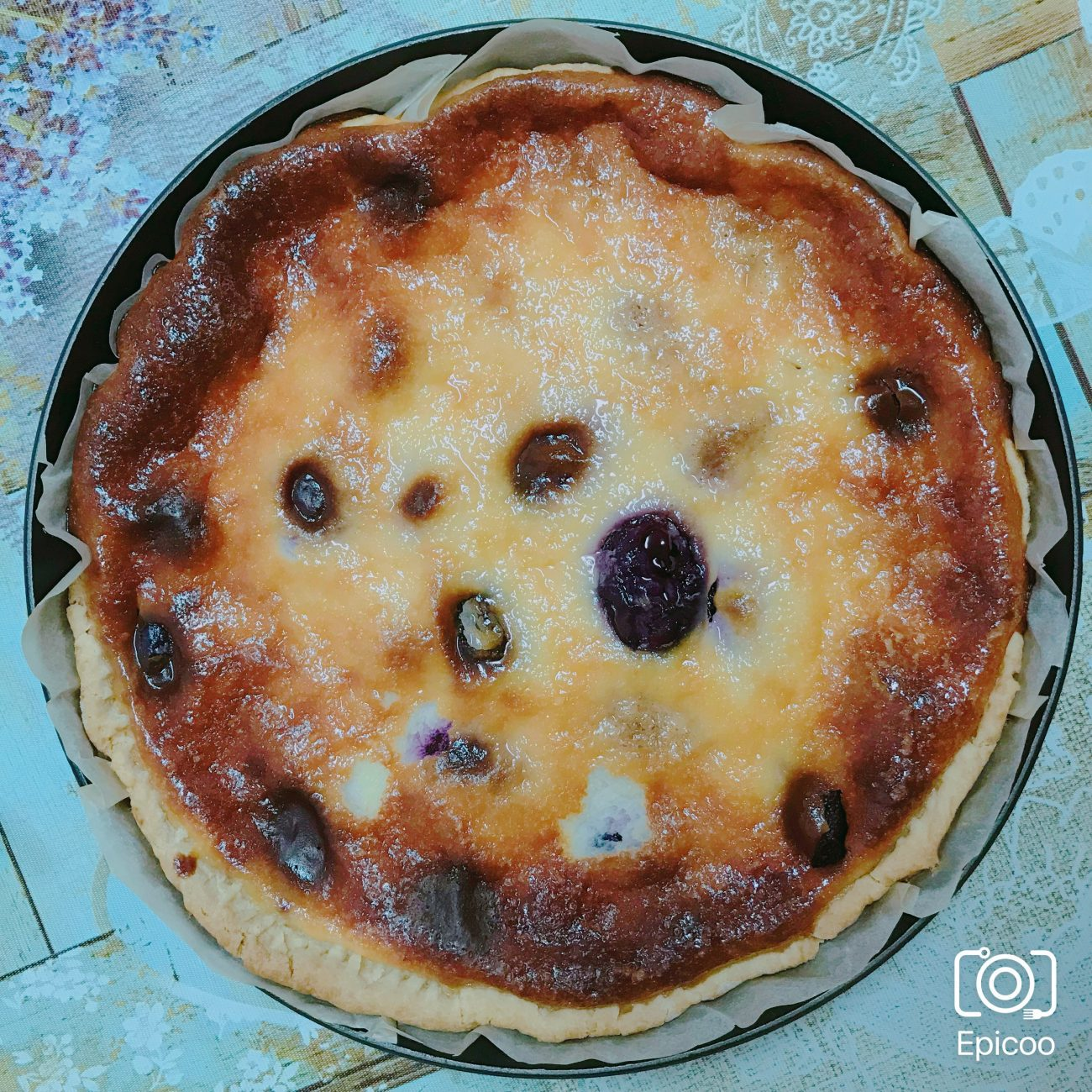 Заливной пирог со сливами