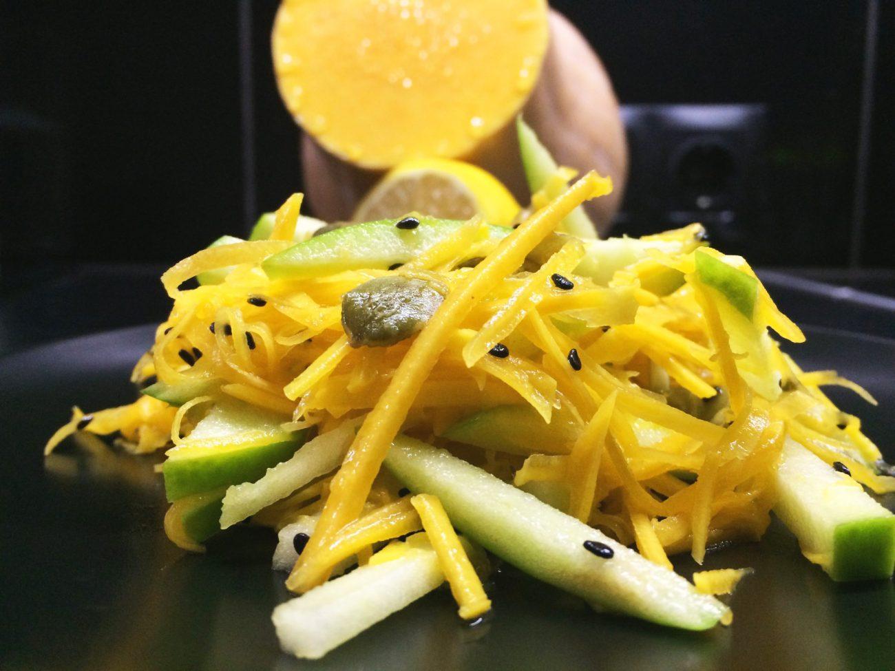 Салат из тыквы и зеленого яблока