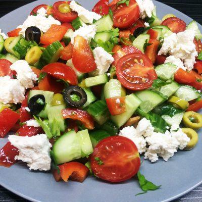 Салат «Греческий» — пошаговый рецепт - рецепт с фото
