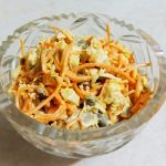 Салат из моркови по-корейски с шампиньонами и куриной грудкой