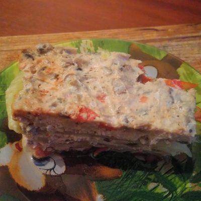 Фото рецепта - Диетическая лазанья с фаршем индейки на капустных листах - шаг 6