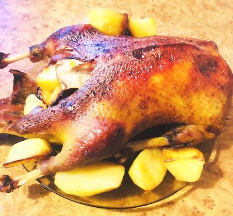 Домашняя утка в медовом маринаде, в рукаве