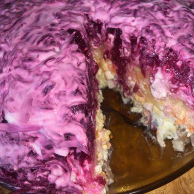 Салат «Шуба» с сельдью - рецепт с фото