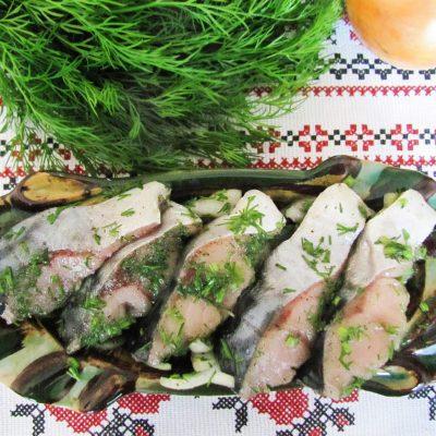 Сугудай из скумбрии — малосольная рыба - рецепт с фото