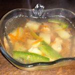 Овощной гречневый суп с куриным филе