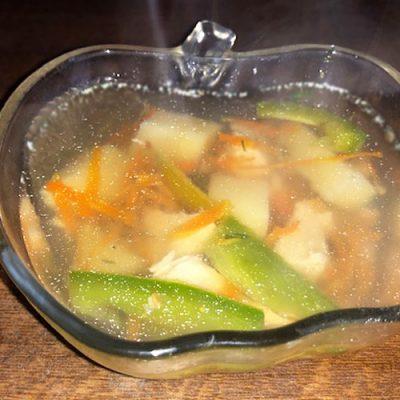 Овощной гречневый суп с куриным филе - рецепт с фото