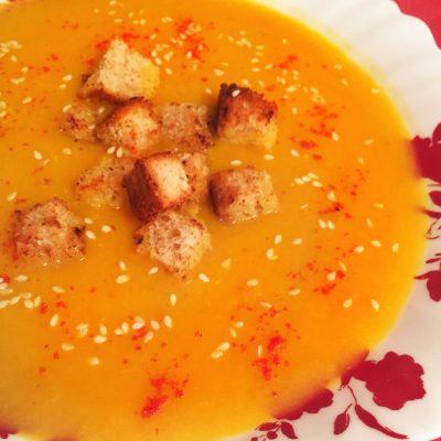 Ароматный крем-суп из тыквы - рецепт с фото