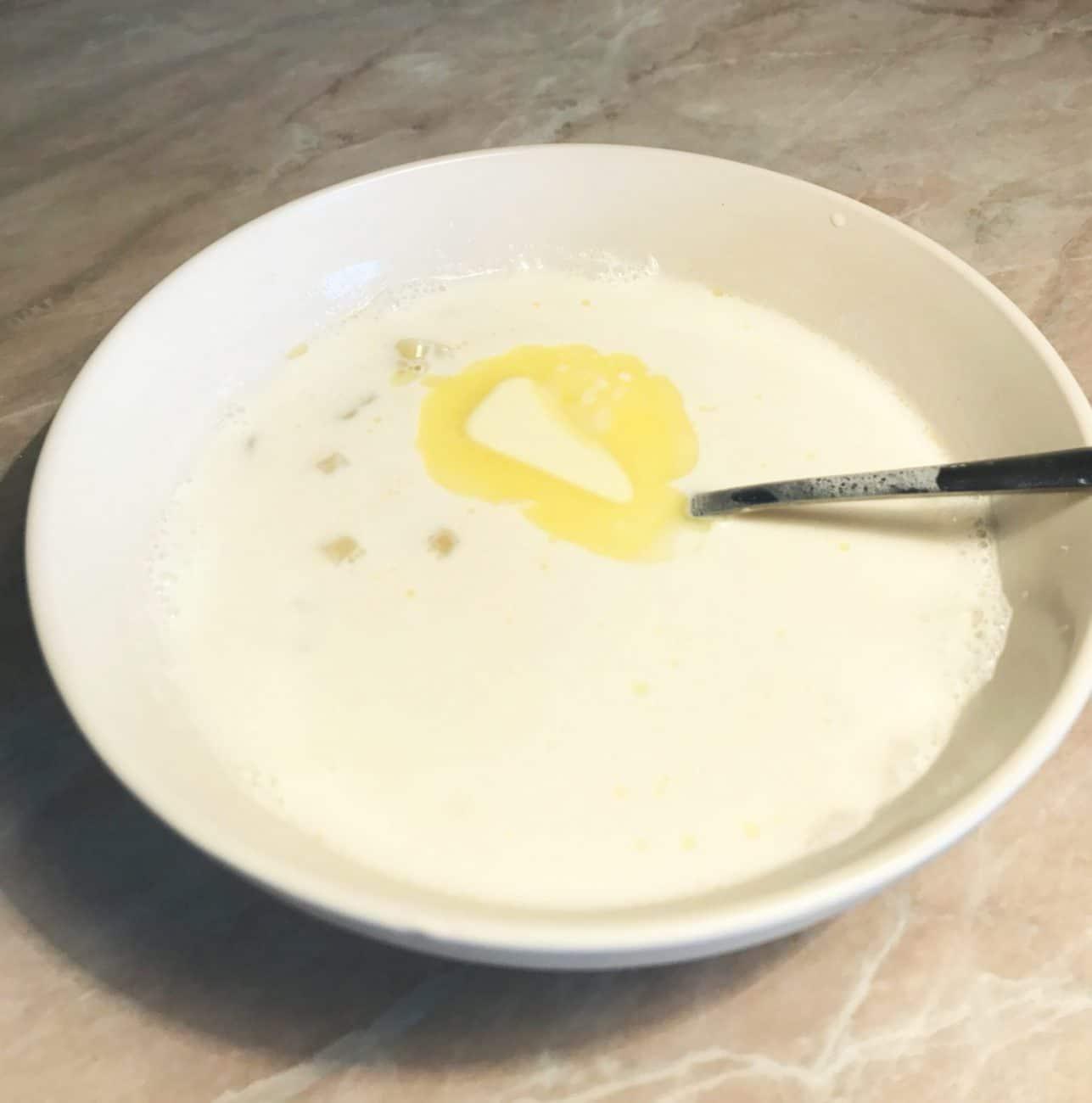 Молочный суп классический