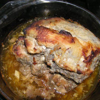 Буженина в яблочном соусе - рецепт с фото