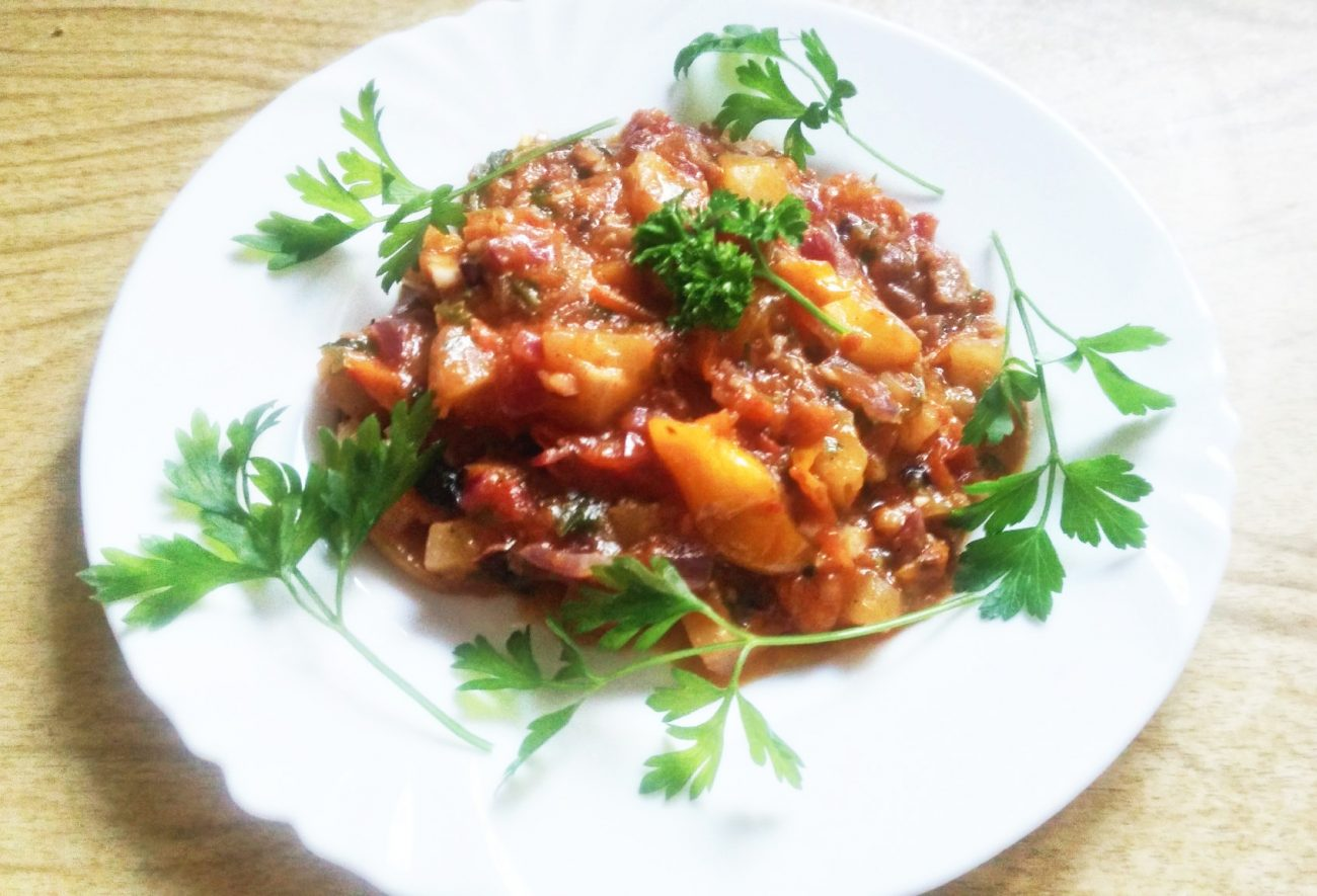 Теплый овощной салат «Осенний привет»