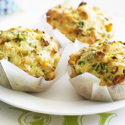 Кабачковые маффины с картофелем и сыром - рецепт с фото