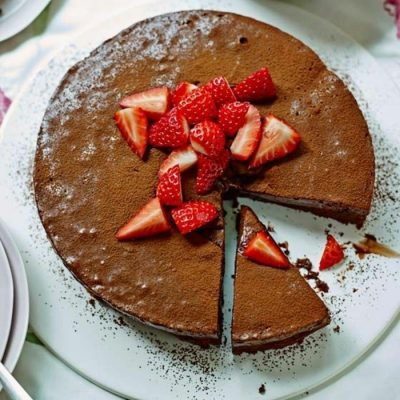 Кекс с шоколадной глазурью - рецепт с фото
