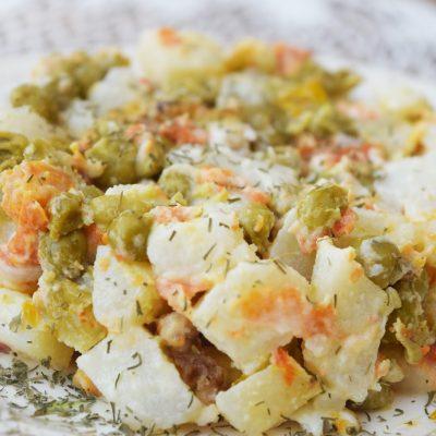 Постный «Оливье» из овощей - рецепт с фото