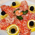 Салат морская звезда с креветками