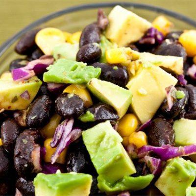 Салат с фасолью и авокадо - рецепт с фото