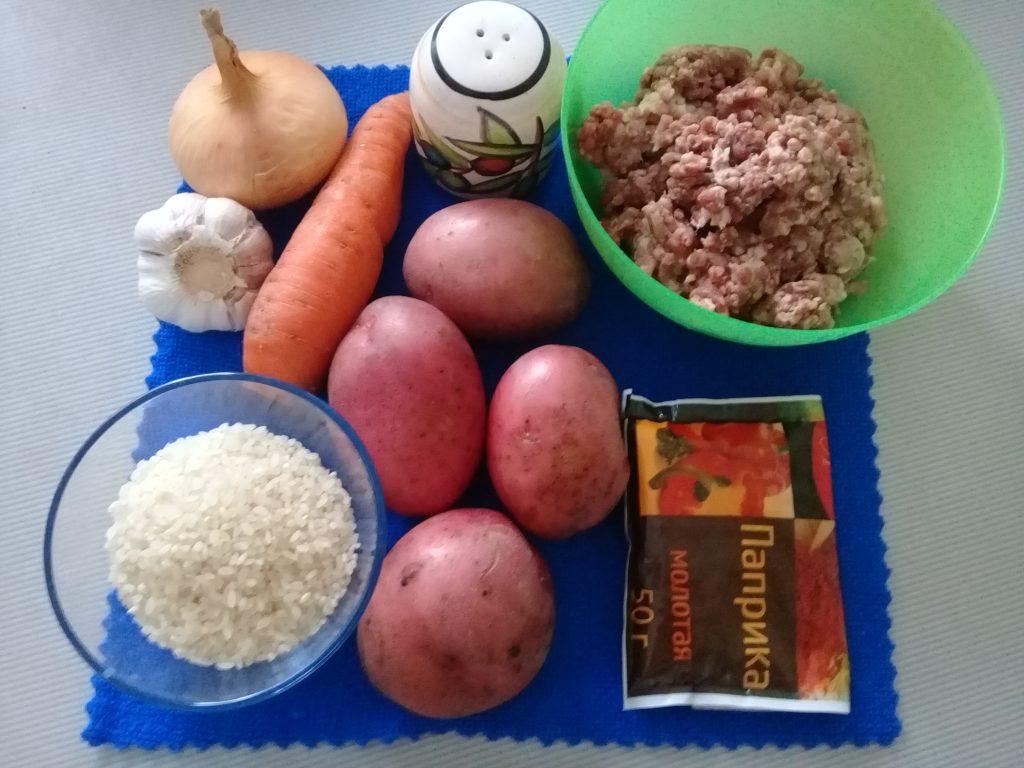 Фото рецепта - Рисовый суп с фрикадельками - шаг 1