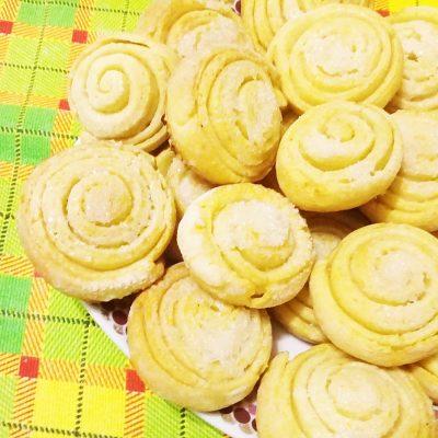 Творожное печенье «Улитки» - рецепт с фото