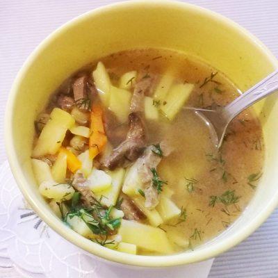 Суп с консервированным горошком с говядиной - рецепт с фото