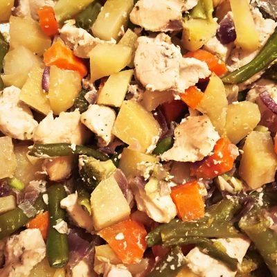 Овощное рагу с курицей в духовке - рецепт с фото